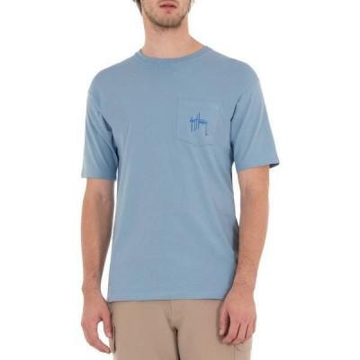 ガイ ハーヴェイ メンズ シャツ トップス Guy Harvey Men's Marlin Flag Short Sleeve T-Shirt