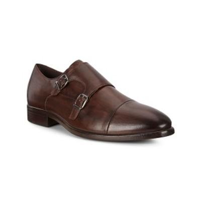 エコー メンズ ドレスシューズ シューズ Men's Vitrus Mondial Monk Strap Shoe Oxford Brown