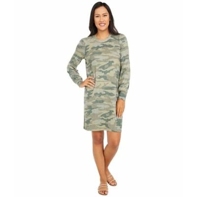 ラッキーブランド ワンピース トップス レディース Cozy Knit Rib Sleeve Dress Green Multi