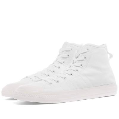 アディダス Adidas メンズ スニーカー シューズ・靴 Nizza Hi RF White/Off White