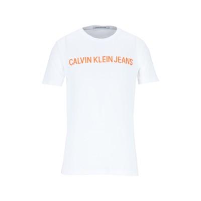 YOOX - CALVIN KLEIN JEANS T シャツ ホワイト S オーガニックコットン 100% T シャツ