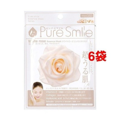 ピュアスマイル エッセンスマスク 030 ホワイトローズ ( 1枚入*6コセット )/ ピュアスマイル(Pure Smile) ( パック )