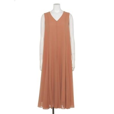 RoyalParty (ロイヤルパーティー) レディース シフォンボリュームドレス オレンジ F