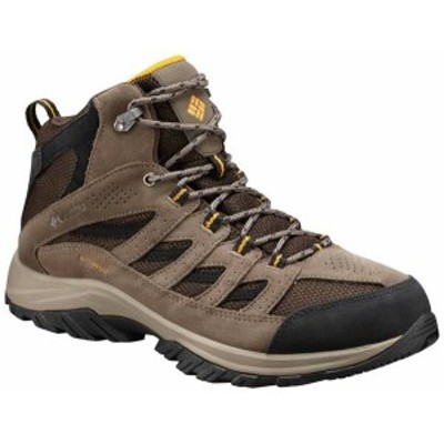コロンビア メンズ ブーツ・レインブーツ シューズ Columbia Men's Crestwood Mid Waterproof Hiking Boots Cordovan/Squash