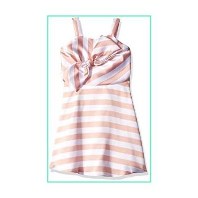 Amy Byer Girls' Big Bow Front Party Dress, Boho Rose/White Stripe, 16並行輸入品