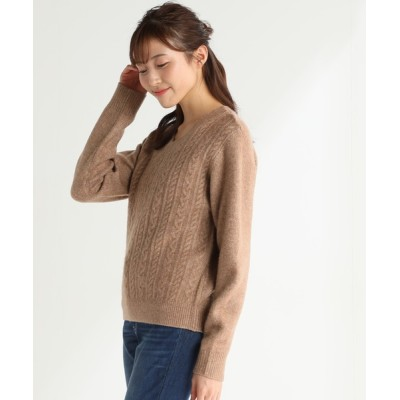 Honeys / ケーブル編Vネック WOMEN トップス > ニット/セーター