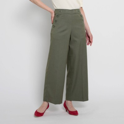 Dessin(Ladies)(デッサン:レディース)/【XS~Lサイズあり・洗える】ポケットボタンワイドパンツ