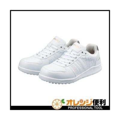 SIMON シモン 耐滑静電プロスニーカー 25.5cm ホワイト NS611WS-25.5 【115-3110】