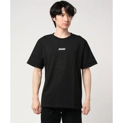 tシャツ Tシャツ 【72】【UNIVERSAL OVERALL(ユニバーサルオーバーオール)】WORK LOGO T