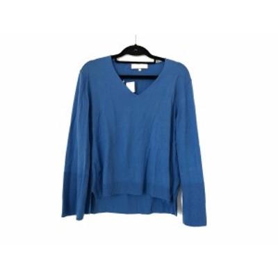 ジユウク 自由区/jiyuku 長袖セーター サイズ38 M レディース 美品 ブルー【中古】20200805