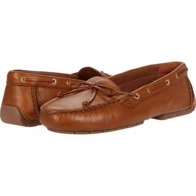 クラークス Clarks レディース スリッポン・フラット シューズ・靴 C Mocc Boat Tan Leather