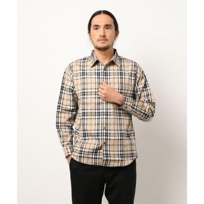 シャツ ブラウス ビッグシルエットチェックシャツ 長袖 レギュラーカラー