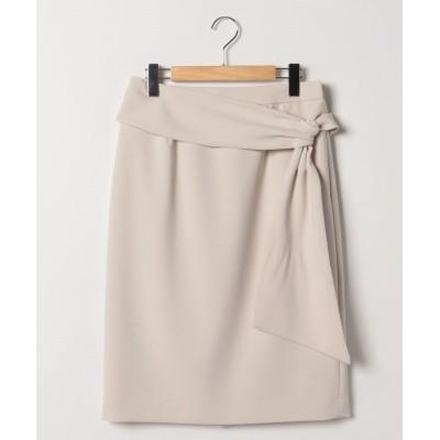 【レリアン】 リボン風ディテールタイトスカート レディース ベージュ系 9 Leilian