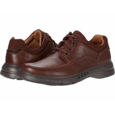 Clarks クラークス メンズ 男性用 シューズ 靴 オックスフォード 紳士靴 通勤靴 Un Brawley Lace Mahogany Tumbled Leather【送料無料】