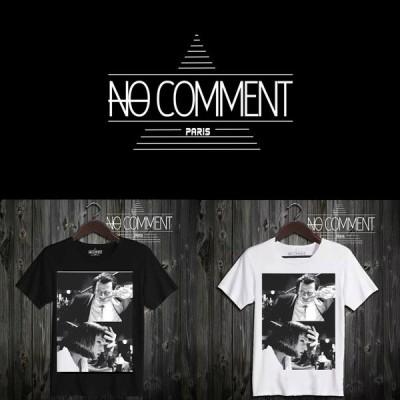 NO COMMENT PARIS ノーコメントパリ 半袖 Tシャツ ブラック ホワイト ラウンドネック Vネック メンズ レディース 大きい 小さい ノーコメント NO COMMENT TEE S