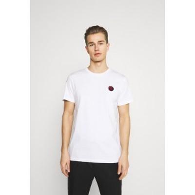 セレクテッドオム メンズ Tシャツ トップス SLHANDRE O NECK TEE - Print T-shirt - brilliant white brilliant white