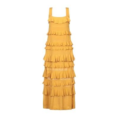 ツインセット シモーナ バルビエリ TWINSET ロングワンピース&ドレス オークル S コットン 75% / ナイロン 25% ロングワンピース