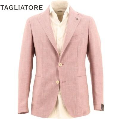 タリアトーレ TAGLIATORE メンズ シルク混ウールリネン 2B シングルジャケット G-DAKAR22K 01UEA080 Y1068(ピンクレッド)