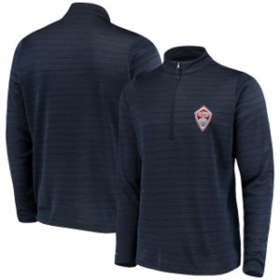 Antigua アンティグア スポーツ用品  Antigua Colorado Rapids Navy/Heathered Gray Frontier Quarter-Zip Pullover Jacket