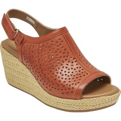 ロックポート サンダル シューズ レディース Cobb Hill Erika Wedge Slingback Sandal (Women's) Russet Red Leather