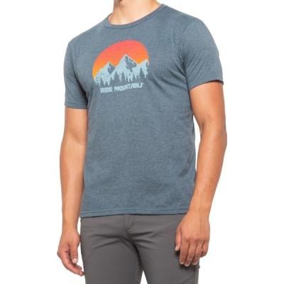 ゾイック ZOIC メンズ 自転車 トップス Sunrise Mountain T-Shirt - Short Sleeve Navy