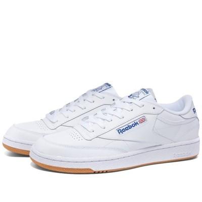 リーボック Reebok メンズ スニーカー シューズ・靴 Club C 85 White/Royal