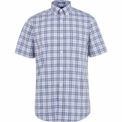 ガント Gant メンズ 半袖シャツ トップス Multi Check Short Sleeve Shirt Stone