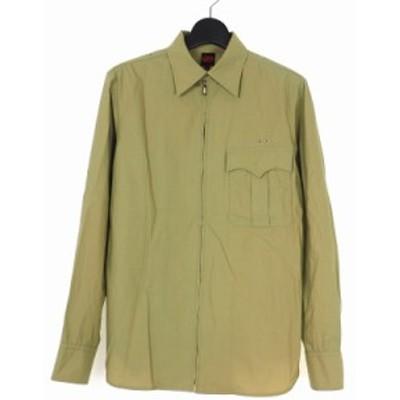 【中古】ジャンポールゴルチエ Jean Paul GAULTIER ジップアップ コットン シャツ 長袖 48 ベージュ メンズ