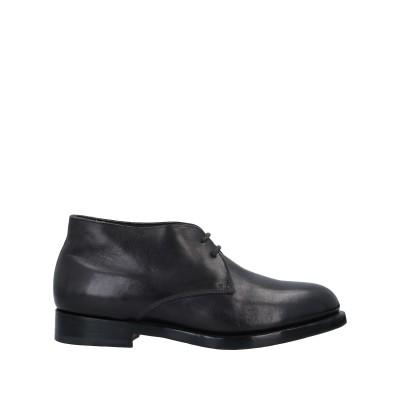 SANTONI ショートブーツ ブラック 8.5 革 ショートブーツ