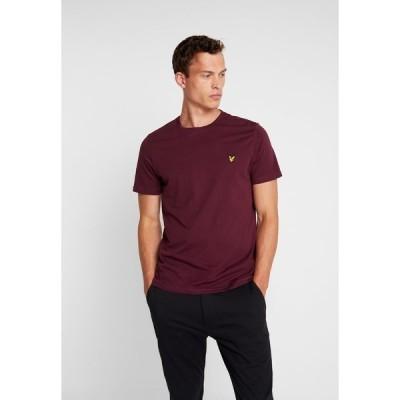 ライルアンドスコット Tシャツ メンズ トップス CREW NECK  - Basic T-shirt - burgundy