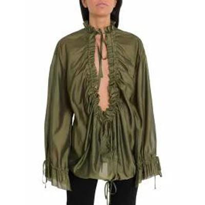 Dsquared2 レディースシャツ Dsquared2 Ruffled Blouse Green