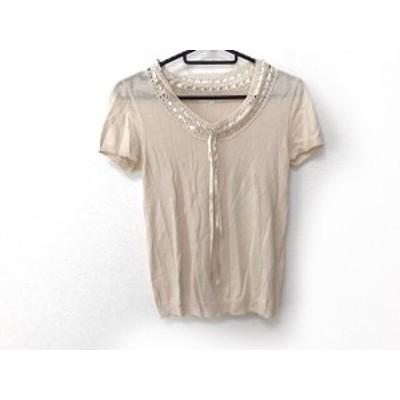 アナイ ANAYI 半袖セーター サイズ38 M レディース アイボリー リボン【還元祭対象】【中古】