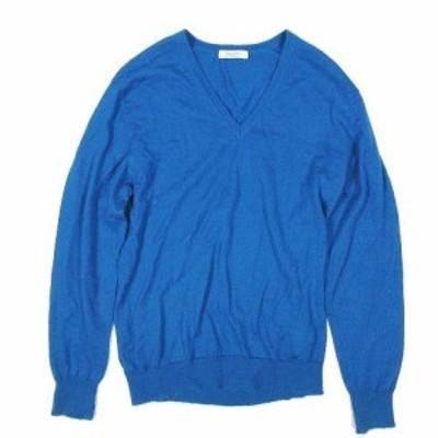 【中古】ユナイテッドアローズホワイトレーベル UNITED ARROWS White Label カシミヤ100% Vネック ニット セーター