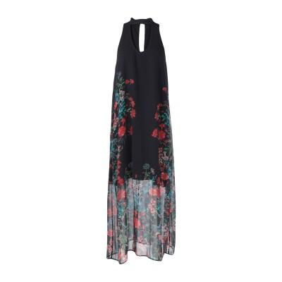 KATIA GIANNINI 7分丈ワンピース・ドレス ブラック 42 ポリエステル 100% 7分丈ワンピース・ドレス