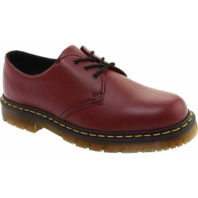 ドクターマーチン レディース スニーカー シューズ 1461 3-Eye Shoe Slip Resistant Cherry Red Industrial Full Grain Leather