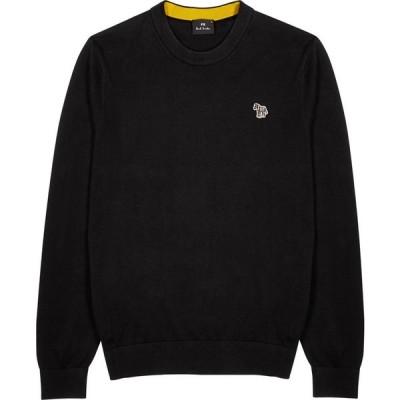 ポールスミス PS by Paul Smith メンズ ニット・セーター トップス black cotton jumper Black