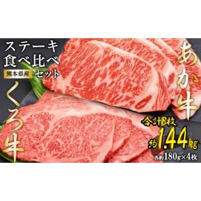 熊本県産あか牛くろ牛ステーキセット