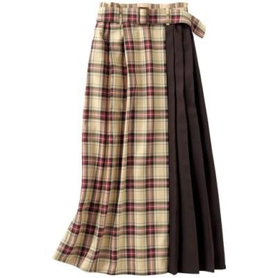 チェック切替スカート/チェックB/S