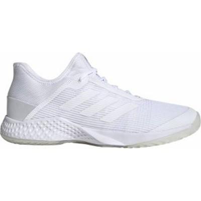 アディダス メンズ スニーカー シューズ adidas Men's adizero Club 2 Tennis Shoes White/White