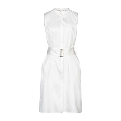 STEFANEL ミニワンピース&ドレス ホワイト 46 コットン 96% / ポリウレタン 4% ミニワンピース&ドレス
