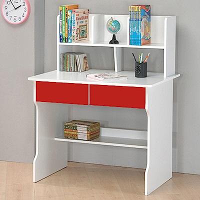 TZUMii經典3尺雙抽層架電腦書桌