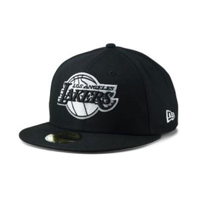 ニューエラ メンズ 帽子 アクセサリー Los Angeles Lakers Black White 59FIFTY Cap Black