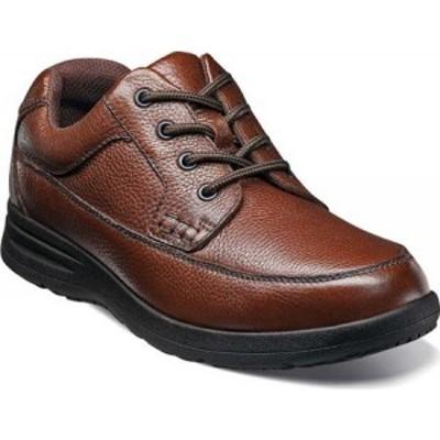 ナンブッシュ Nunn Bush メンズ 革靴・ビジネスシューズ モックトゥ シューズ・靴 Cam Moc Toe Oxford Cognac Tumbled Leather