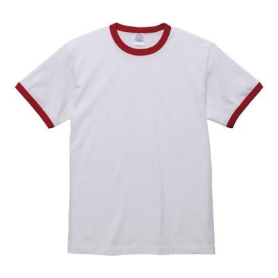 Tシャツ メンズ 半袖 リンガーTシャツ 厚手 5.6オンス 無地 丸首 クルーネック