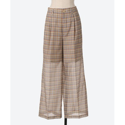 <AURALEE(Women)/オーラリー> WOOL RECYCLE POLYESTER SHEER CHECK PANTS MIX BL CHE【三越伊勢丹/公式】