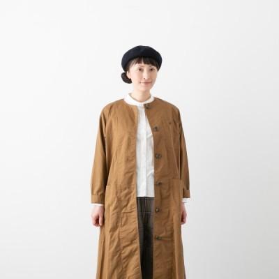 サラウェア カーペンター コート ドレス SARAHWEAR C71083 レディース アウター コート ライトアウター 羽織り ノーカラー ワンピース ワンピ