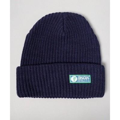 帽子 キャップ 【DISCUS】ワンポイント ニットキャップ