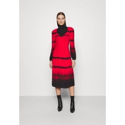フー ワット ウェア レディース ワンピース トップス WRAP DRESS - Day dress - red red