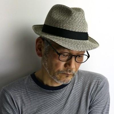 イタリア製 ストローハット メンズ 夏 GALLIANO SORBATTI 帽子 ミックスカラー ハット インポート ブランド ペーパー ブレード 中折れハ