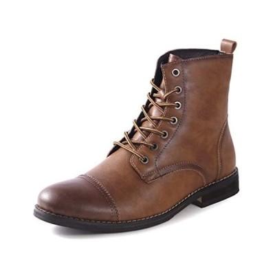 [Ork Tree] ブーツ メンズ 通気性 ショートブーツ 紳士靴 エンジニア ブーツ (ブラウン 25.5 cm M)
